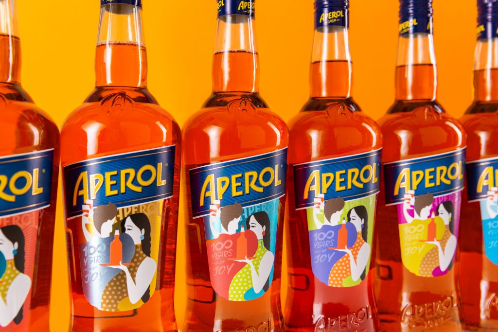 Campari Aperol 3 bottiglie colori: Legendary Products Legend19 Promemoria